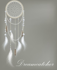 Dreamcatcher with lace and beads