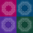 Set of four colors of circle ornament