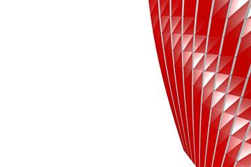 rot, abstrakt, imaginär - 3D
