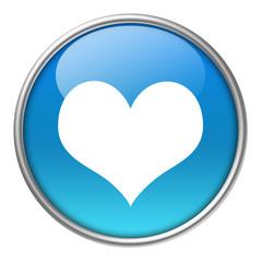 Bottone vetro cuore