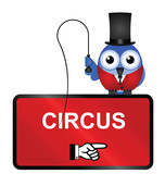 Comical Circus Sign isolated on white background