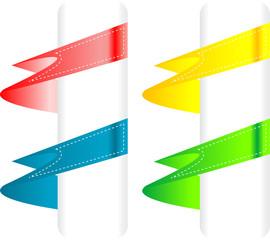 Color variation of paper origami labels