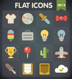 Universal Flat Icons for Web and Mobile Applications Set 8
