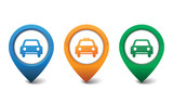 Car and taxi icon vector illustration