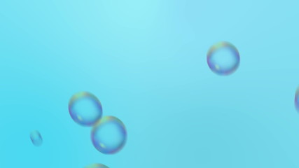 Moving bubbles in blue water background, HD 1080p, loop.