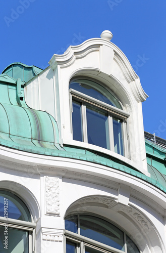 Dachgaube auf Kupferdach