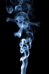 Smoke shaped as skull. For anti-smoking or lung cancer campain