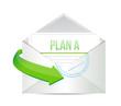 plan a email information concept illustration