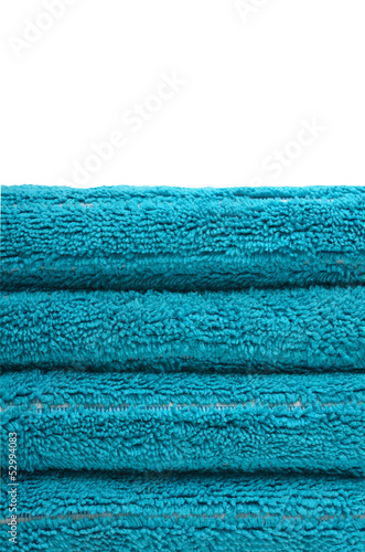 Stack of blue towels