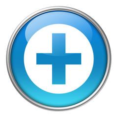 Bottone vetro croce medica
