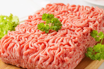 Raw ground pork