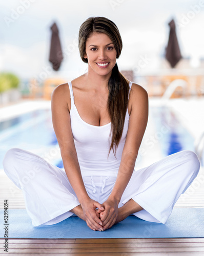 Beautiful yoga woman