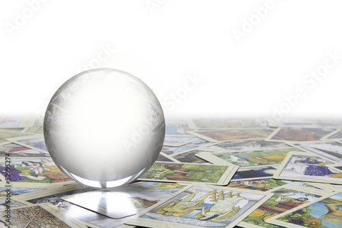 Crystal Ball on Tarot cards
