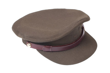 officer's field cap isolated on white background