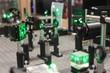 Leinwanddruck Bild - Laser optycal system