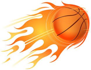 fire of basketball