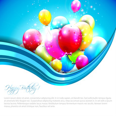 Sweet birthday background with copyspace
