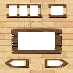 wooden frames on seamless flooring pattern
