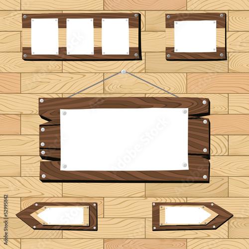 wooden frames on seamless flooring pattern