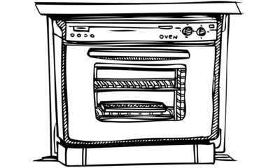 Isolated Vector Illustration of Cooking Kitchen Oven