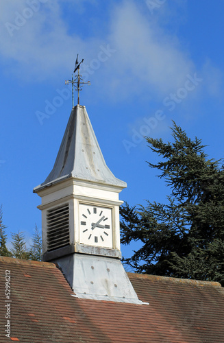 Clock tower and weather vane