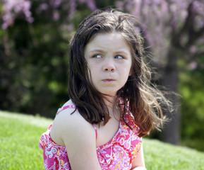 Annoyed little girl