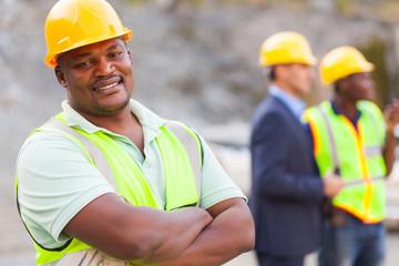 african mine worker