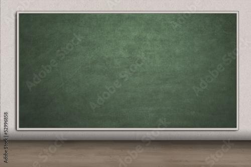 Blank chalkboard for copyspace in class