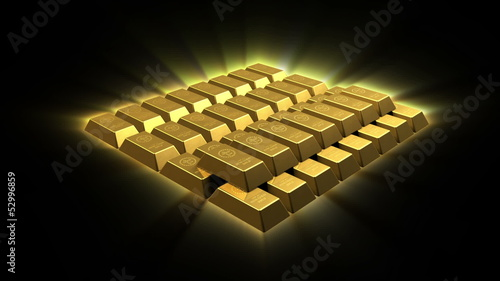 Growing Gold Bricks Pyramid
