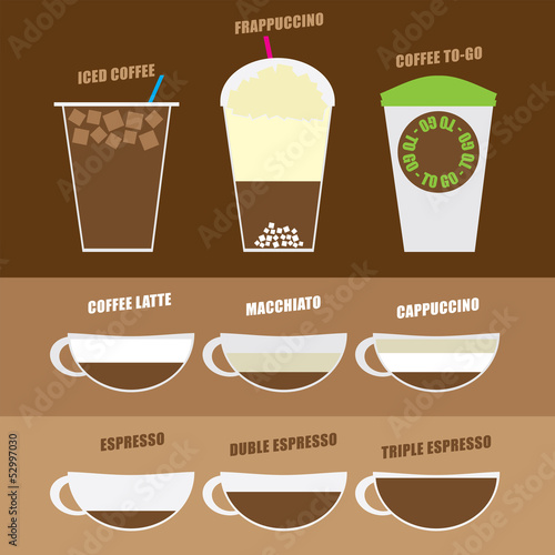favorite coffee set vector