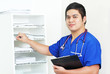 Nurse And The Medical Records