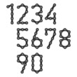 Bicycle chain numbers