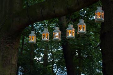Outdoor party night illumination