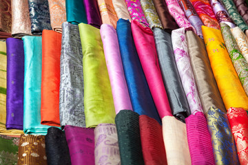 Indian cloth at market