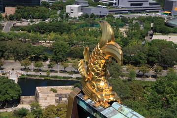 大阪城の金のしゃちほこ