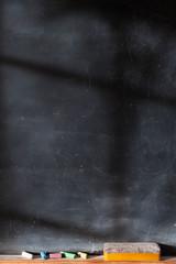Blank blackboard vertical with Light  Effect