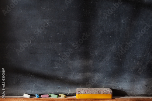 Blank blackboard with Light  Effect