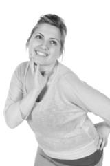 Retro monochrome woman expressions