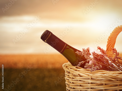 Wine in Basket