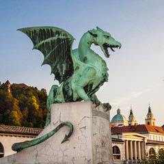Zmajski most (Dragon bridge), Ljubljana, Slovenia, Europe