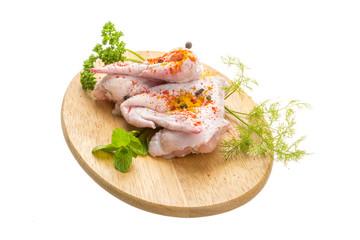 Uncoocked chicken