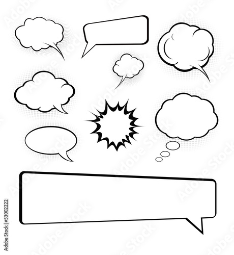 cartoon speech bubbles