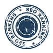 SEO ranking concept stamp
