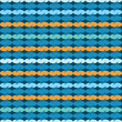 Textile pattern in blue