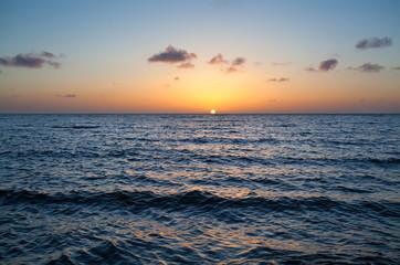 calm sunset over North sea