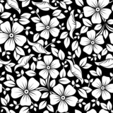 Fototapety Seamless pattern with flowers and leaves. Vector illustration.