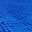 Blue mosaic surface