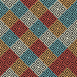 colorful geometrical seamless pattern with greek motives