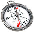 plan b direction conceptual compass
