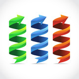 Set of ad ribbon, 360¡ wrapped around own axis, illustration poster